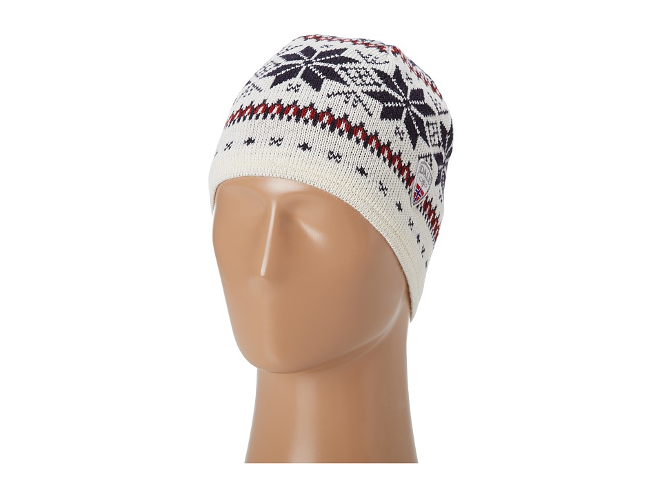 Dale of Norway - Trollskogen Hat (A-Off White/Navy/Red Rose) Knit Hats