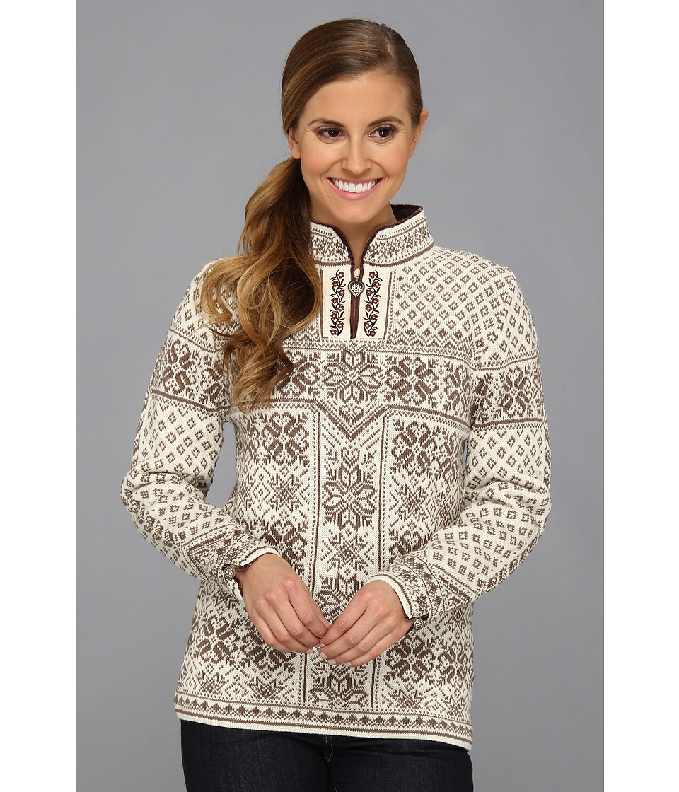 Dale of Norway - Peace (D-Warm Taupe/Off White) Women's Sweater