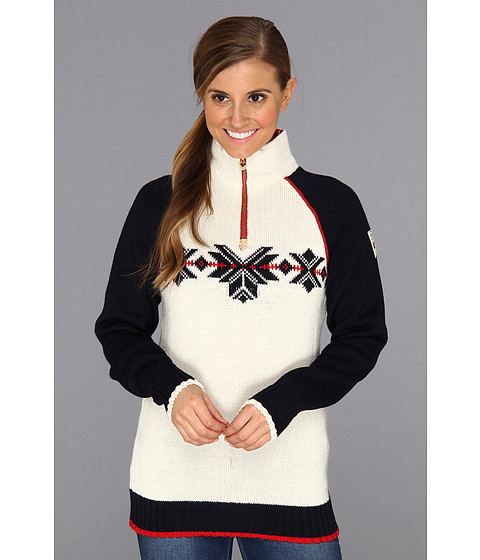 Apparel-Dale of Norway Sochi Feminine (A Navy Raspberry Off White) Women's Sweater
