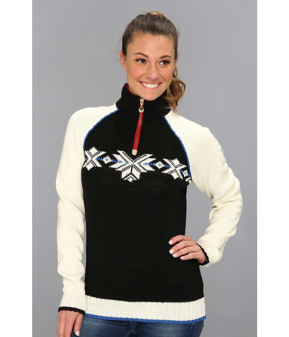 Dale of Norway - Sochi Feminine (F-Black/Off White/Cobalt) Women's Sweater
