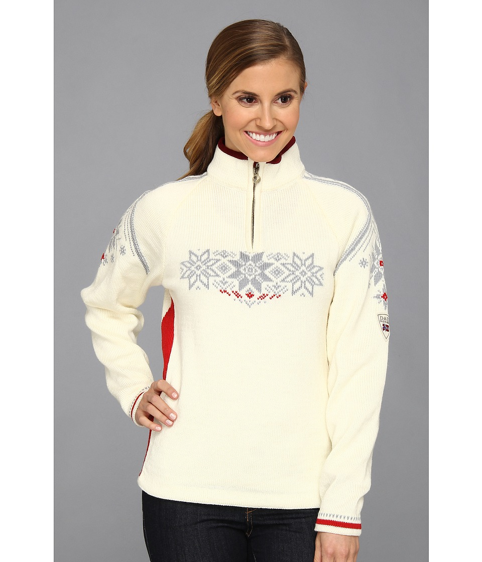Dale of Norway - Holmenkollen Feminine (A-Off White/Raspberry/Metel) Women's Sweater