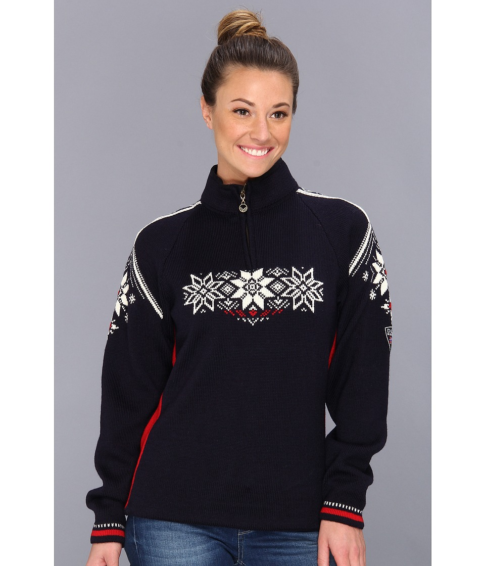 Dale of Norway - Holmenkollen Feminine (C-Navy/Raspberry/Off White) Women's Sweater
