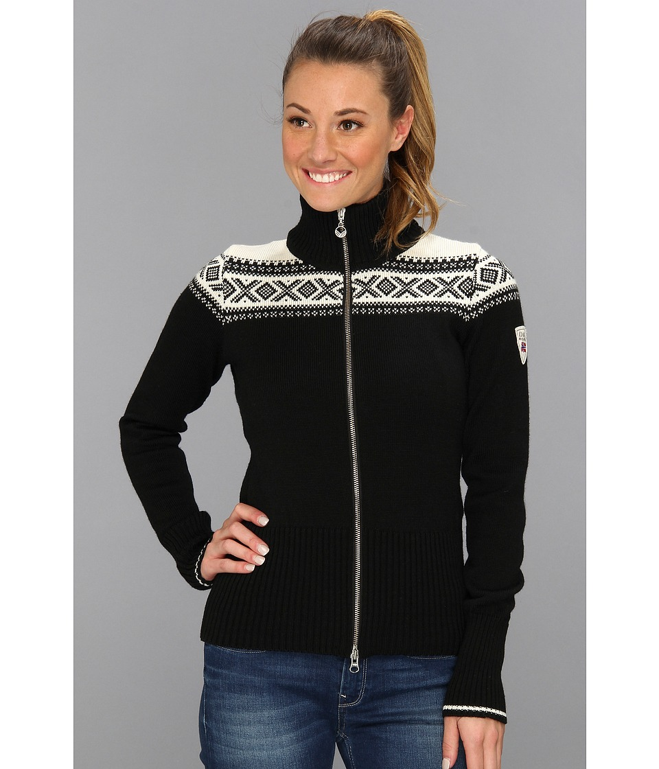 Dale of Norway - Hemsedal Feminine Jacket (F-Black/Off White) Women's Sweater
