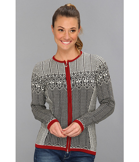 Dale of Norway - Sigrid Feminine (F-Black/Off White/Red Rose) Women's Sweater