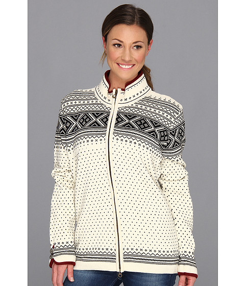 Dale of Norway - Valle Feminine Jacket (A-Off White/Black) Women's Sweater