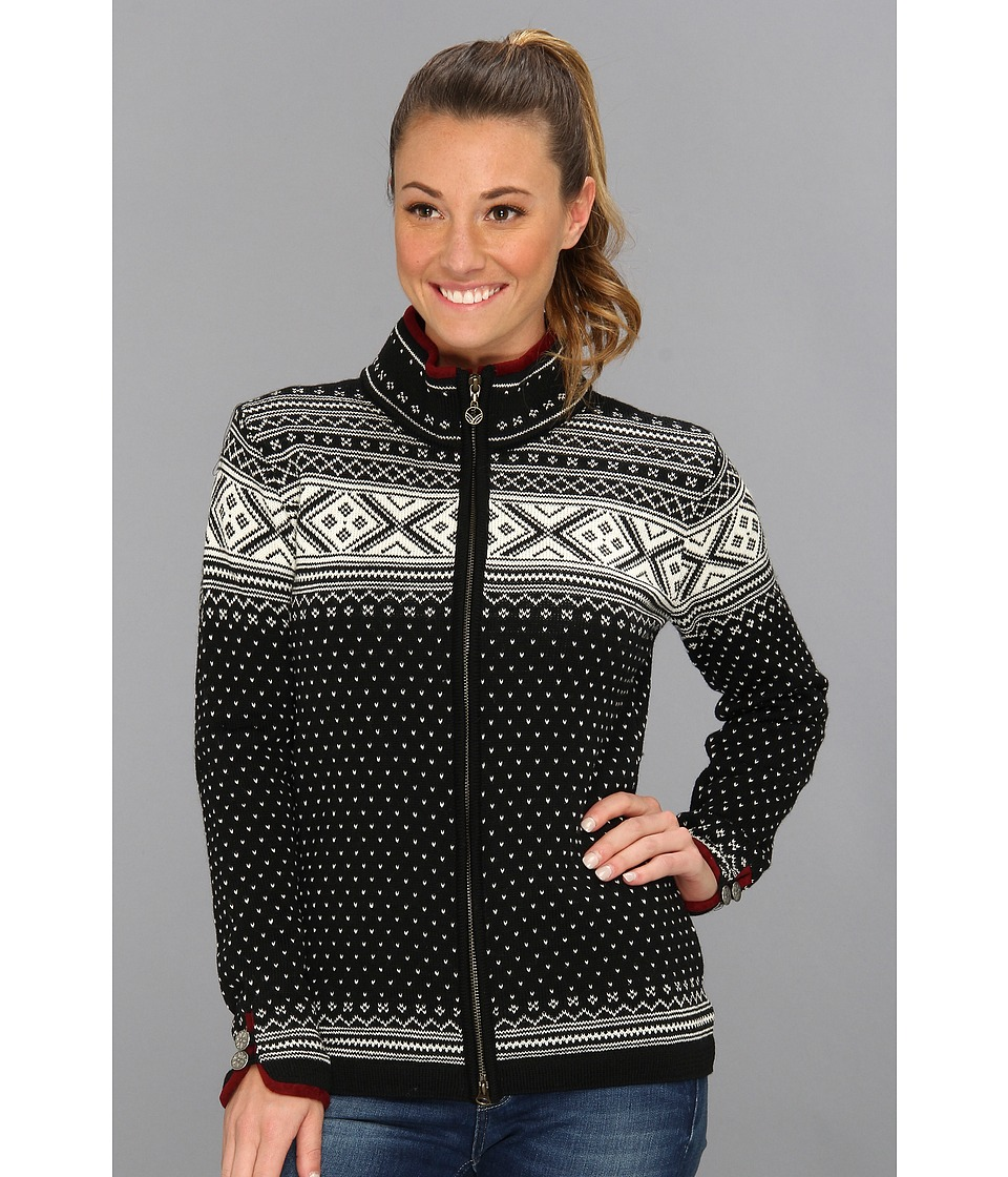 Dale of Norway - Valle Feminine Jacket (F-Black/Off White) Women's Sweater