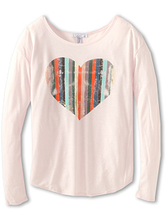 SALE! $9.99 - Save $20 on O`Neill Kids Heart Of Gold L S Tee (Big Kids) (Cradle Pink) Apparel - 66.14% OFF $29.50