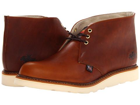 Thorogood - Plain Toe Chukka (Tobacco) Men's Work Boots