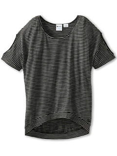 SALE! $16.99 - Save $15 on Roxy Kids Rule Breaker S S Top (Big Kids) (True Black Mini Stripe) Apparel - 46.91% OFF $32.00
