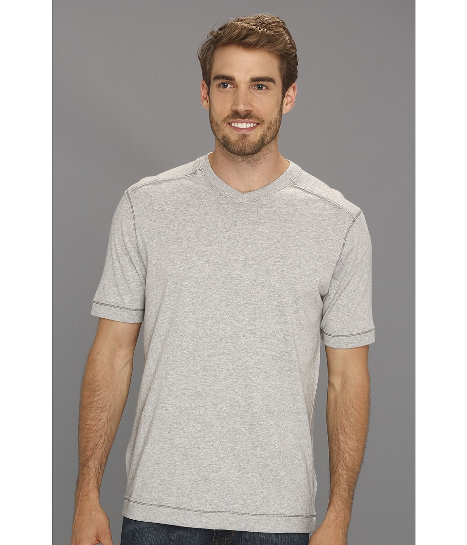 Tommy Bahama - Cohen V-Neck (Light Grey Heather) Men's Short Sleeve Pullover