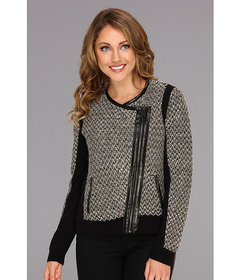 Vince Camuto - Side Zip Sweater Jacket (Rich Black) Women