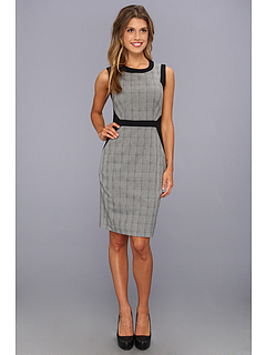 SALE! $71.99 - Save $87 on Vince Camuto Glen Plaid Suiting Dress (Rich Black) Apparel - 54.72% OFF $159.00