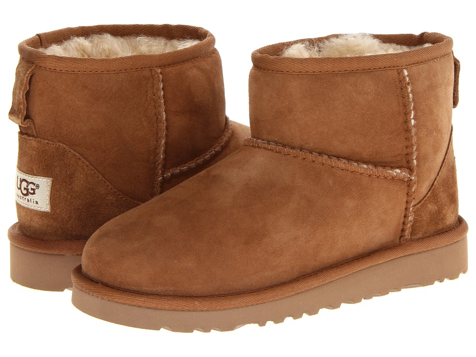 UGG Kids - Classic Mini (Little Kid/Big Kid) (Chestnut) Kids Shoes