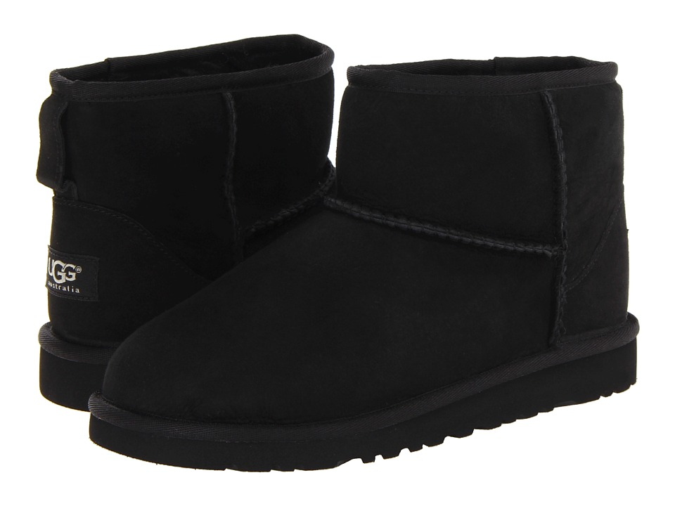 UGG Kids - Classic Mini (Big Kid) (Black) Girls Shoes