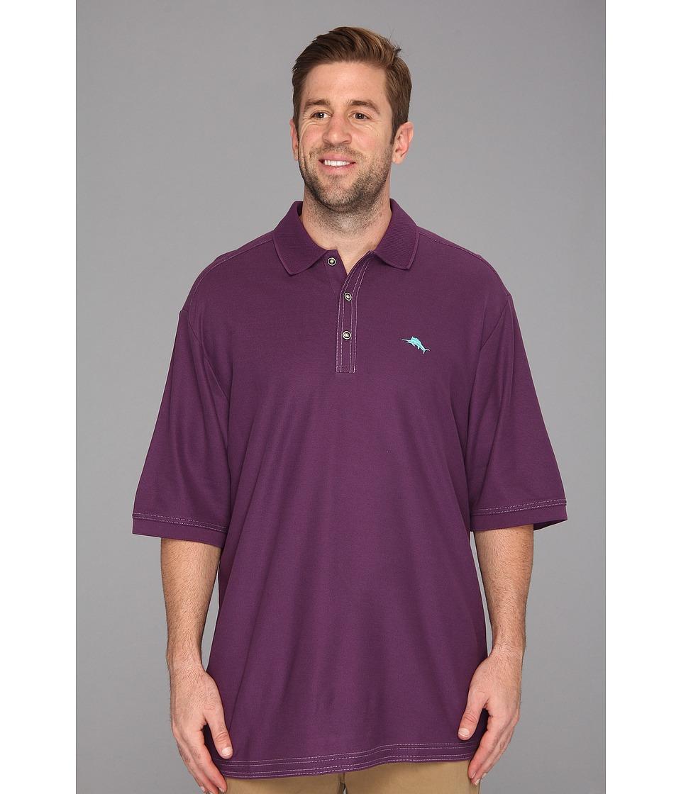 Tommy Bahama Big & Tall Big Tall Emfielder Polo Shirt Mens Short Sleeve Pullover (Purple)