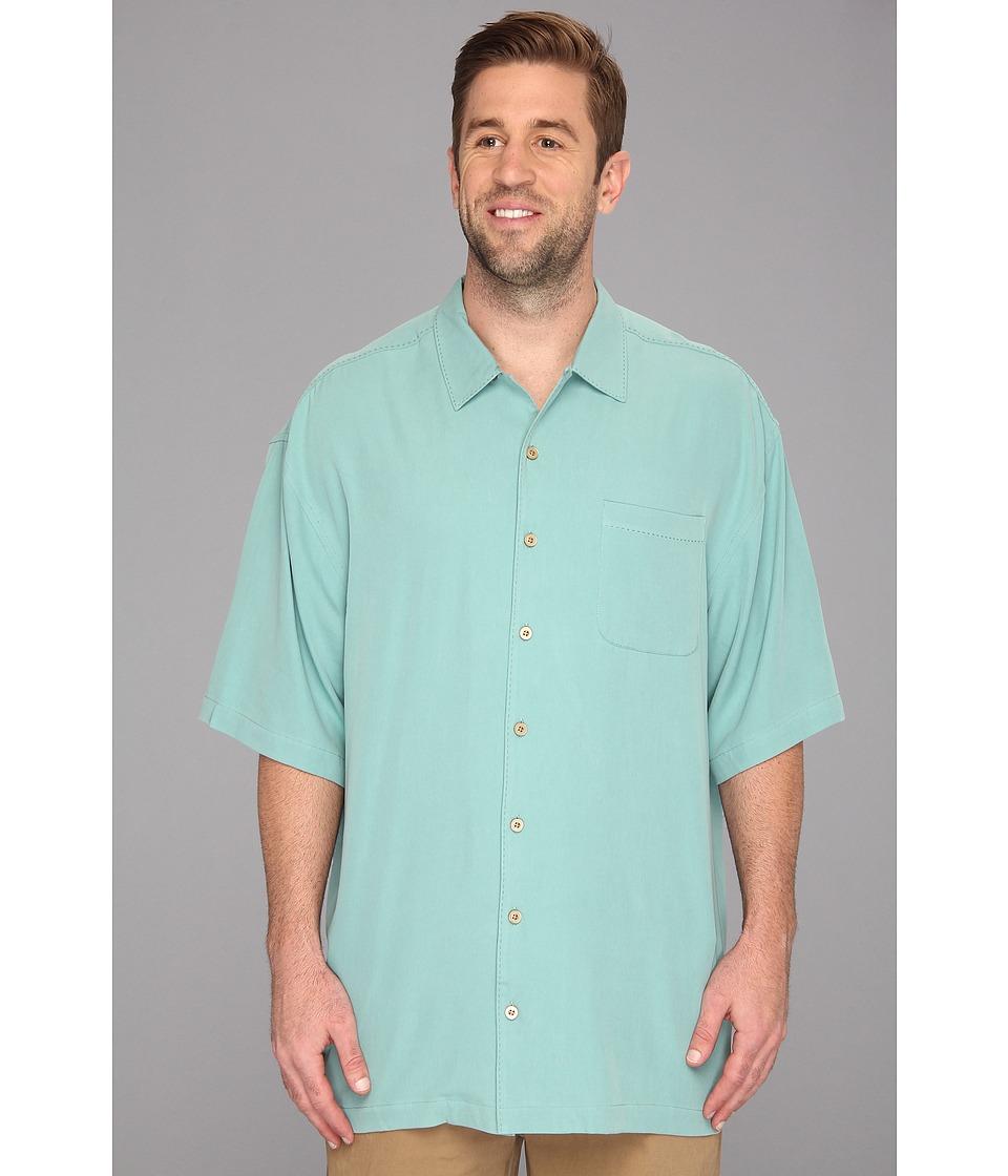Tommy Bahama Big & Tall Big Tall Catalina Twill Camp Shirt Mens Short Sleeve Button Up (Olive)