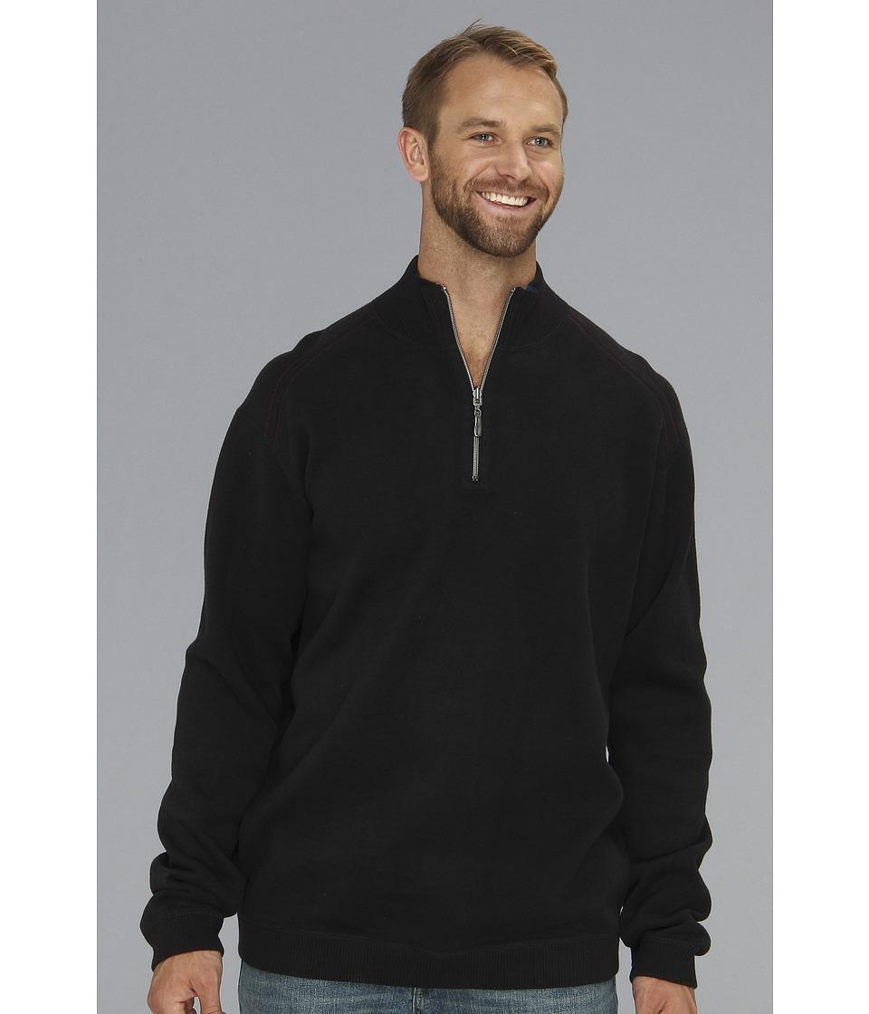 Tommy Bahama Big & Tall Big Tall Flip Side Pro Half Zip Mens Clothing (Black)