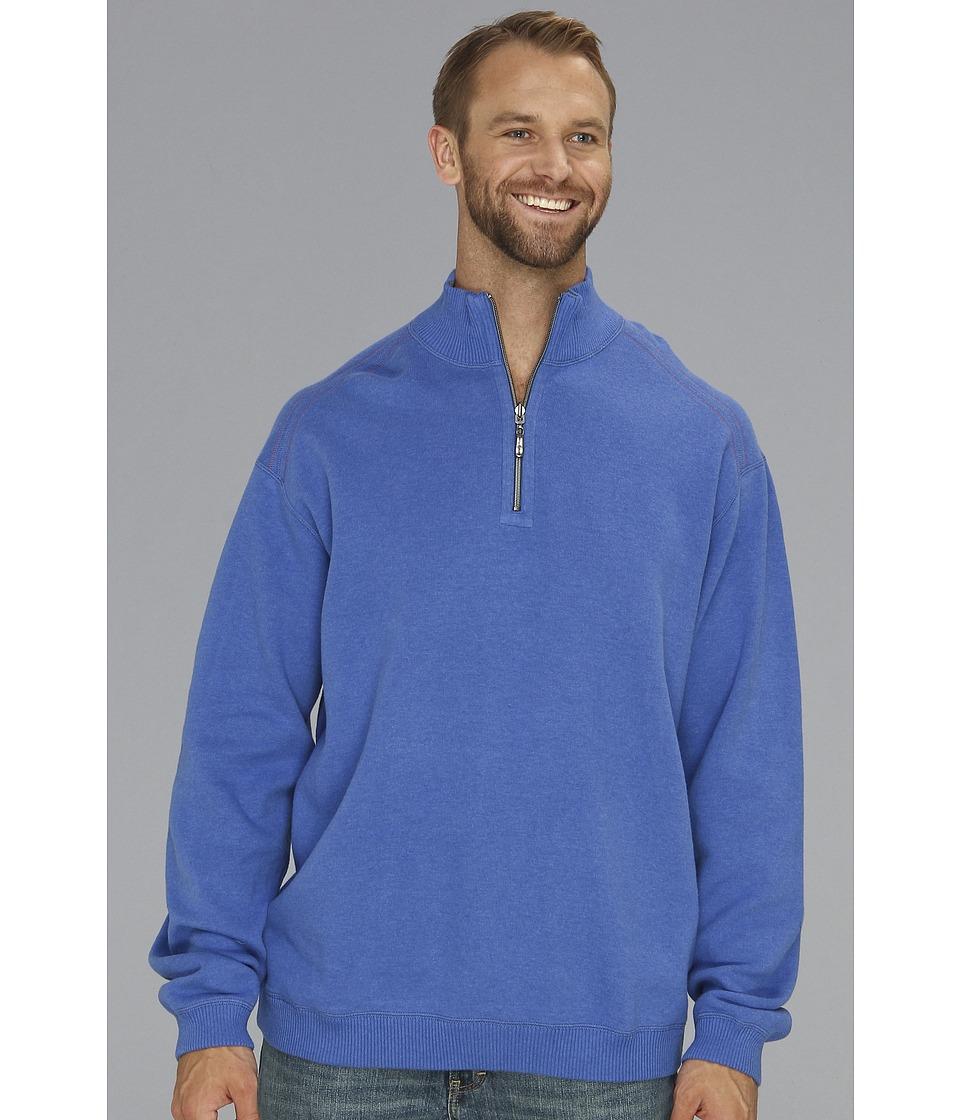 Tommy Bahama Big & Tall Big Tall Flip Side Pro Half Zip Mens Clothing (Blue)