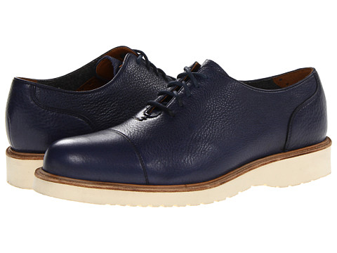 Cole Haan - Dean Wedge Oxford (Blazer Blue Waterproof) Men