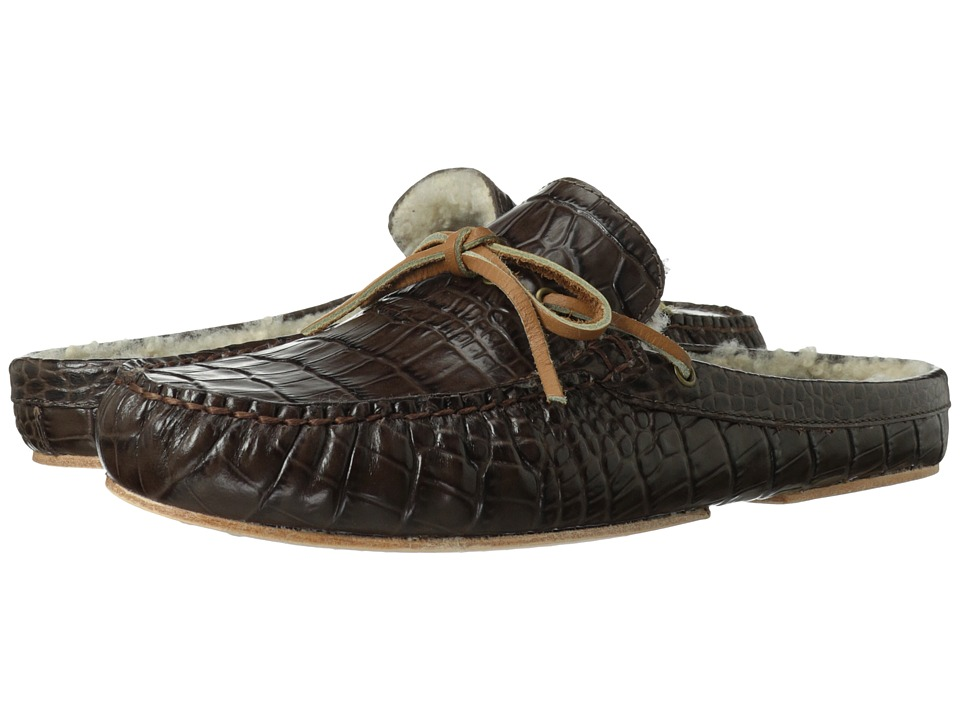 Cole Haan - Grant Scuff Slipper (Chestnut Croc Print/Shearling) Men's Shoes