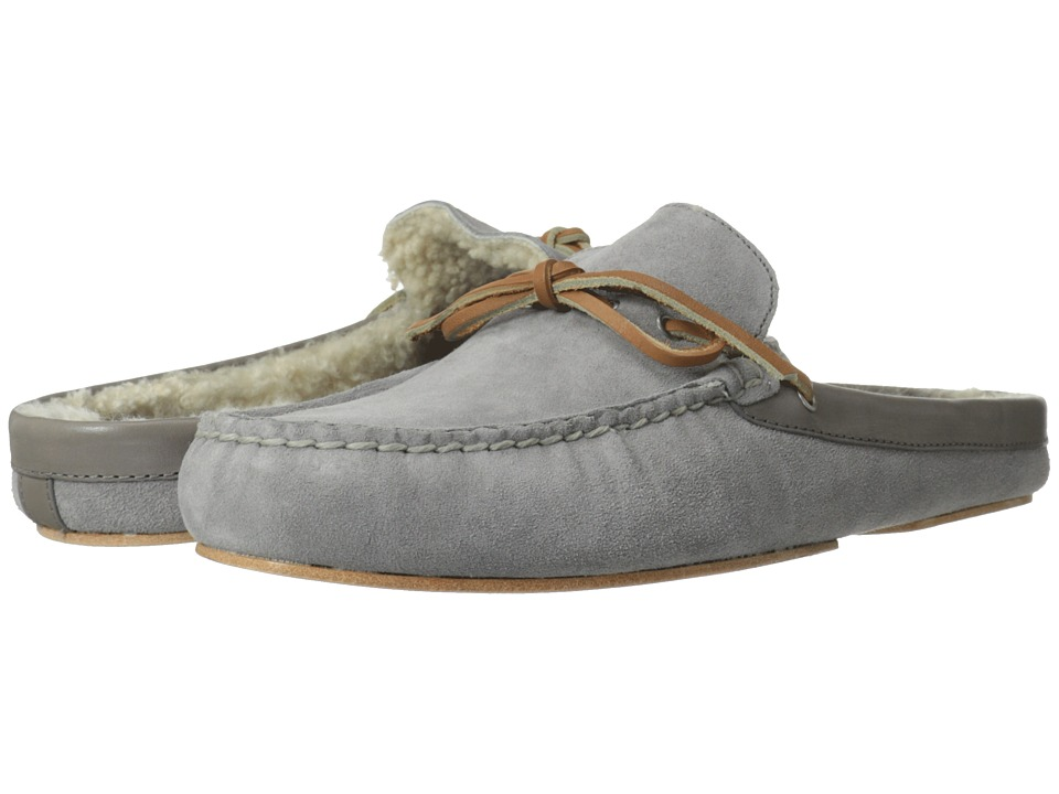 Cole Haan - Grant Scuff Slipper (Ironstone Suede/Shearling) Men's Shoes