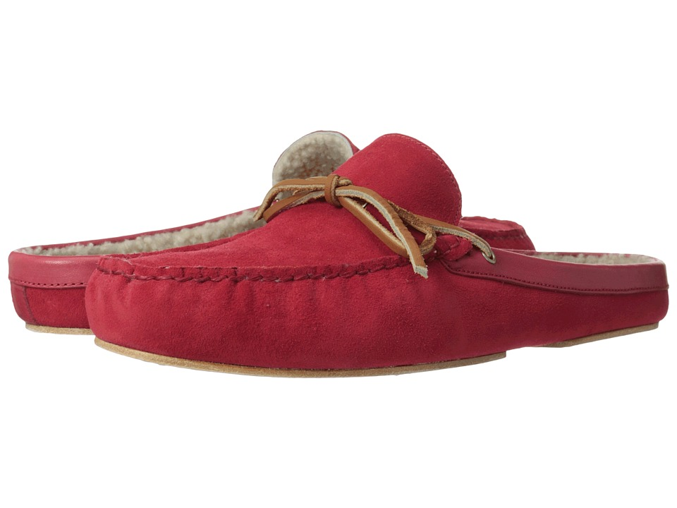 Cole Haan - Grant Scuff Slipper (Tango Red Suede/Shearling) Men