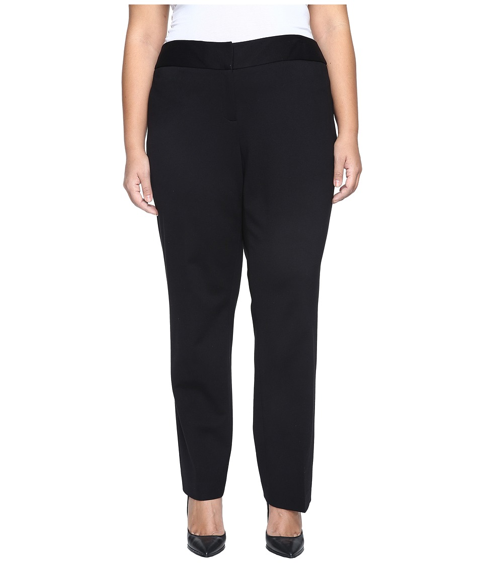 Vince Camuto Specialty Size - Plus Size Ankle Pant (Rich Black) Women's Casual Pants