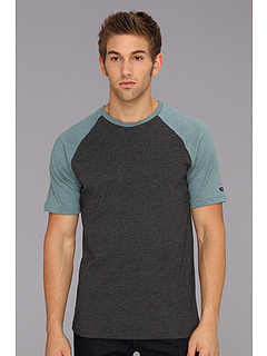 SALE! $9.99 - Save $20 on RVCA Camby S S Raglan Knit (Charcoal Heather) Apparel - 66.70% OFF $30.00