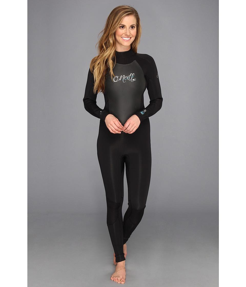 O'Neill - Epic 3/2MM Wetsuit (Black/Black/Black) Women's Wetsuits One Piece