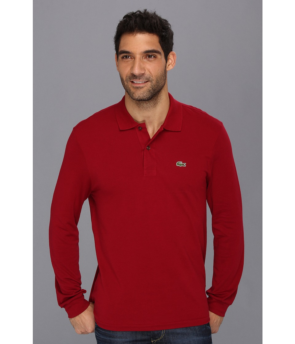 Lacoste - L/S Classic Pique Polo (Bordeaux) Men's Long Sleeve Pullover