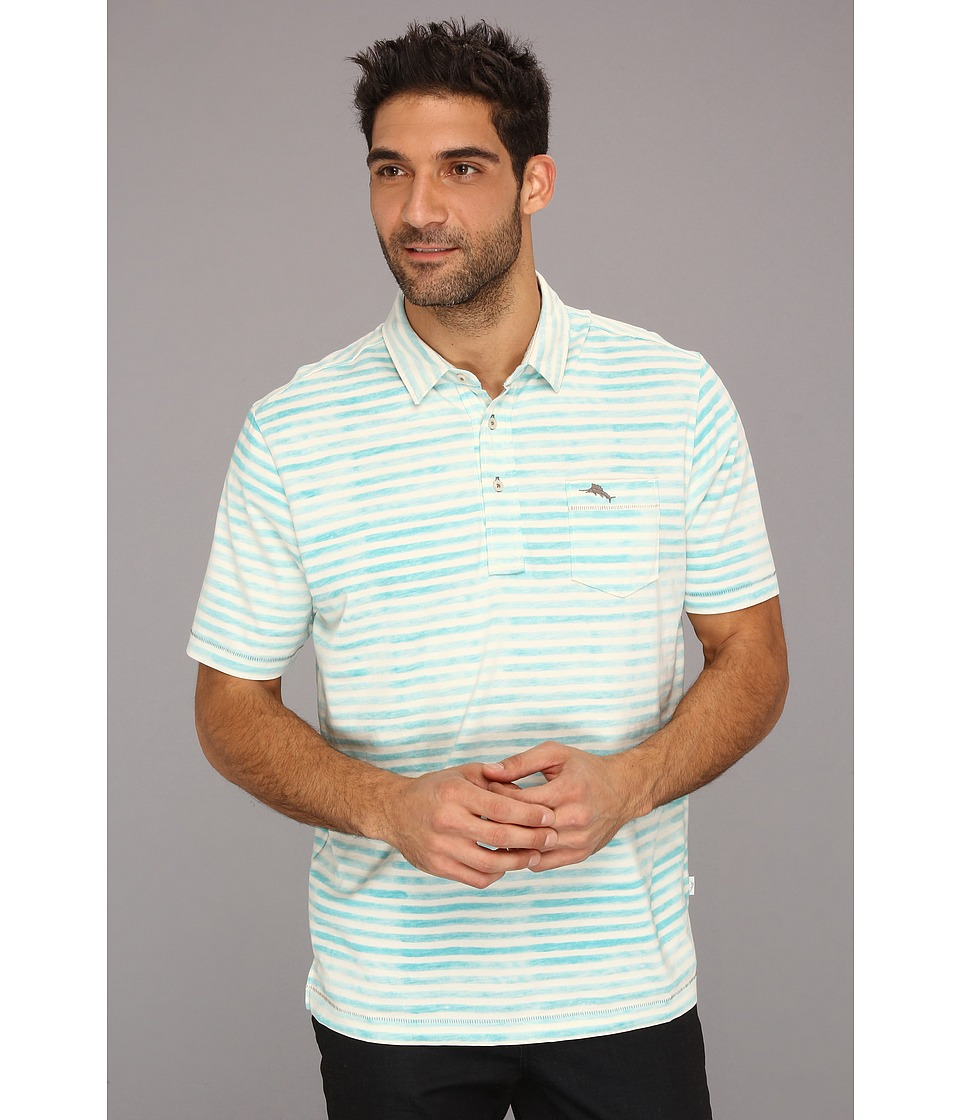 Tommy Bahama Bali Reef Polo Mens Short Sleeve Pullover (Blue)
