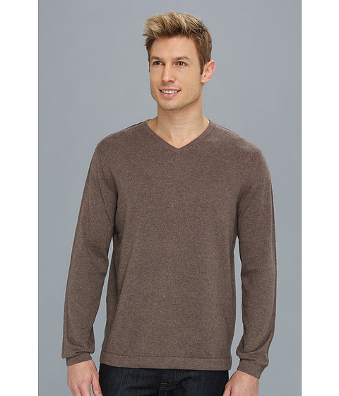 Tommy Bahama - Island Deluxe V-Neck Sweater (Iced Coffee) Men's Sweater