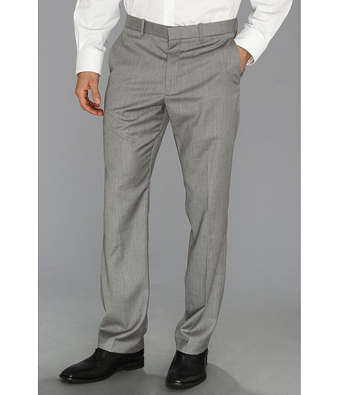Perry Ellis - Textured Suit Pant (Brushed Nickel) Men