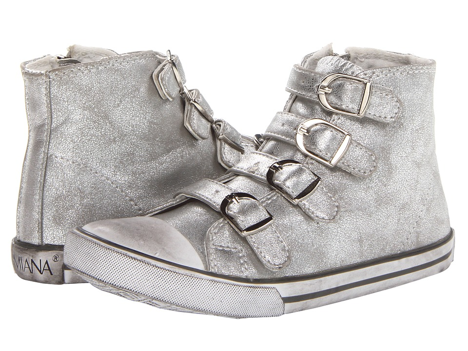 Amiana 15-A5172 (Toddler/Little Kid/Big Kid/Adult) (Silver Metallic Fog) Girls Shoes