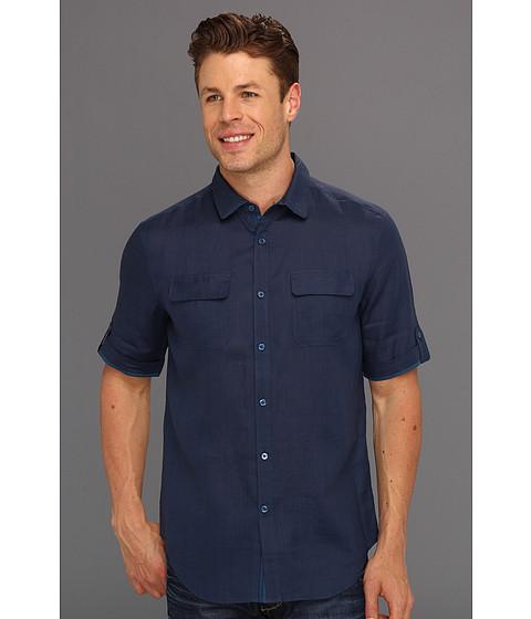 Elie Tahari - Hayden Shirt J60M8523 (Gettysburg) Men's Short Sleeve Button Up