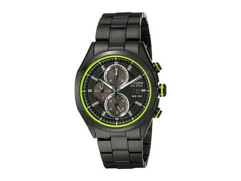 Citizen Watches CA0435-51E HTM 2.0 Eco-Drive Ion Plated Stainless Steel Chronograph Watch (Black Ion Plated Stainless Steel) Analog Watches