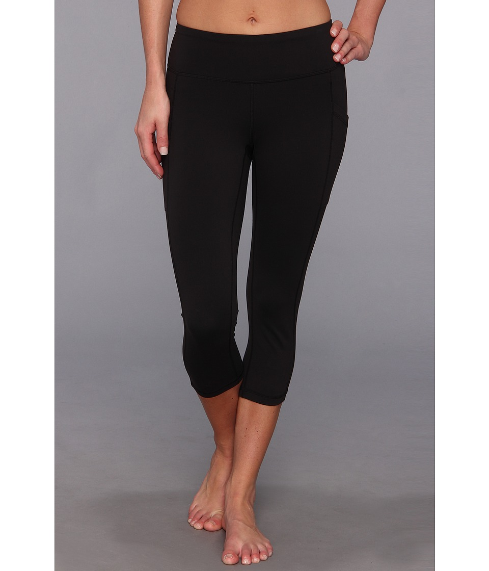Lucy - Pocket Capri Legging (Lucy Black) Women's Capri
