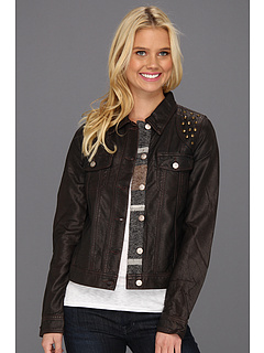 SALE! $44.99 - Save $55 on Roxy Dancing Shores Pleather Jacket (Decadent Chocolate) Apparel - 54.78% OFF $99.50