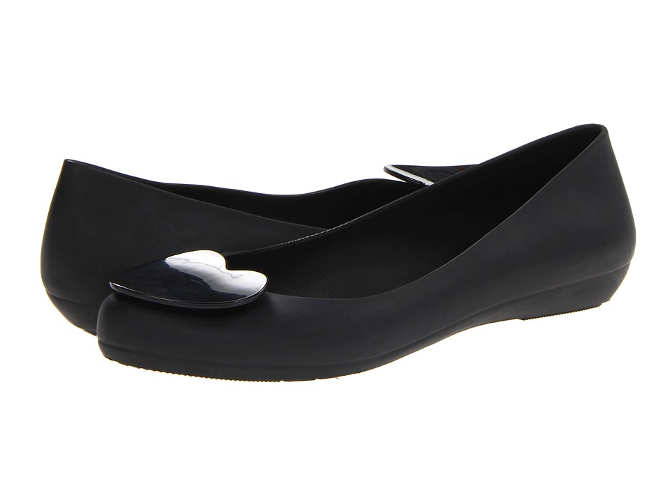 Mel by Melissa - Mel Pop Heart (Black/Grey) Women's Flat Shoes