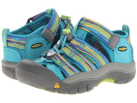Keen Kids - Newport H2 (Toddler/Little Kid) (Capri Breeze/Lime Green Wave) Girls Shoes