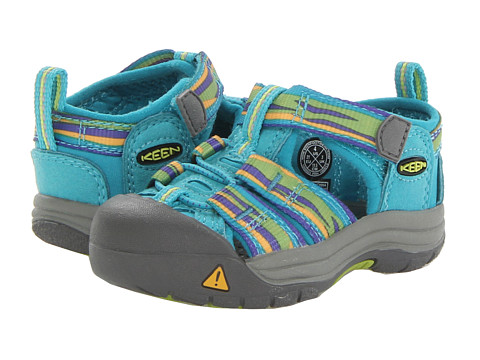 Keen Kids - Newport H2 (Toddler) (Capri Breeze/Lime Green Wave) Girls Shoes