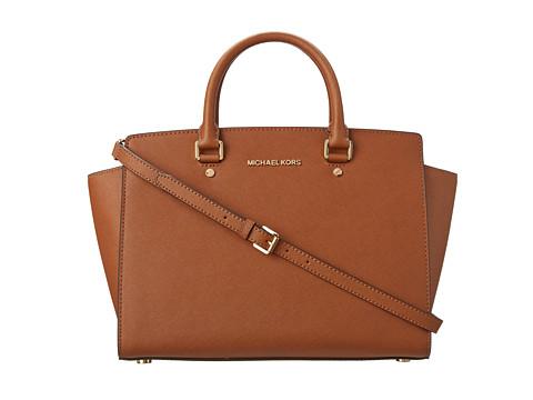 MICHAEL Michael Kors Selma (Luggage) Satchel Handbags