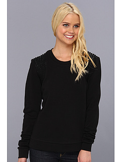 SALE! $61.99 - Save $116 on Joe`s Jeans Jessa Rope Embellished Sweatshirt (Black) Apparel - 65.17% OFF $178.00