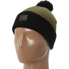 SALE! $14.99 - Save $9 on Obey Old Timey Pom Pom Beanie (Army Black) Hats - 37.54% OFF $24.00