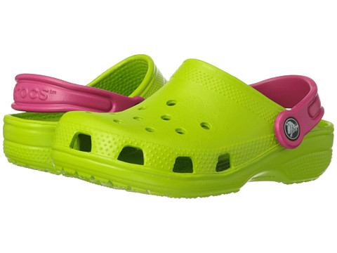 Crocs Kids - Classic (Toddler/Little Kid) (Volt Green/Raspberry) Kids Shoes