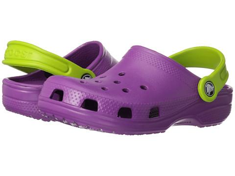 Crocs Kids - Classic (Toddler/Little Kid) (Viola/Volt Green) Kids Shoes