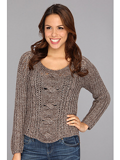 SALE! $59.99 - Save $68 on NIC ZOE Chunky Cable Top (Multi) Apparel - 53.13% OFF $128.00
