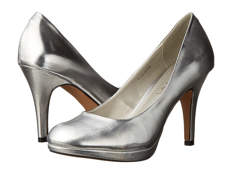 Amiana - 15-A5256 (Little Kid/Big Kid/Adult) (Silver Metallic) High Heels