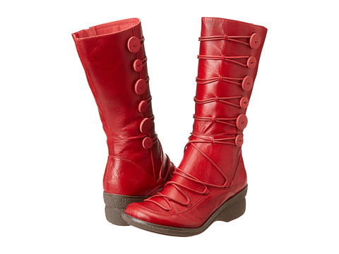 Miz Mooz Owen (Red) Women's Lace-up Boots