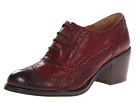 Miz Mooz Norma (Wine) Women's Lace Up Wing Tip Shoes